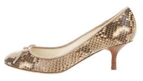 Bettye Muller Animal Print Round-Toe Pumps