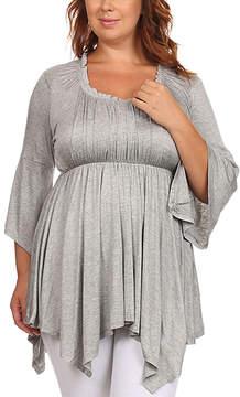 Canari Heather Gray Handkerchief Tunic - Plus