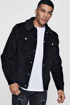 boohoo Borg Collar Cord Western Jacket