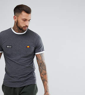 Ellesse Ringer T-Shirt With Small Logo In Gray