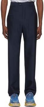Balenciaga Blue Double Belt Trousers