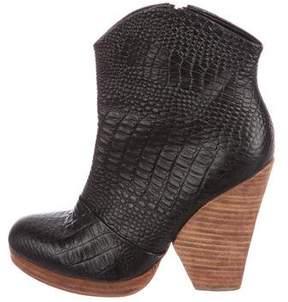 Rachel Comey Embossed Leather Booties