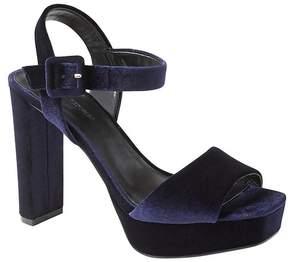 Banana Republic Velvet Platform High-Heel Sandal