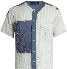 Longjourney Scout striped short-sleeved cotton shirt