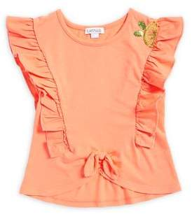 Flapdoodles Little Girl's Ruffled Top