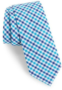 1901 Men's Robin Diamond Check Skinny Tie