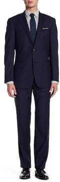Hart Schaffner Marx Navy Two Button Notch Lapel Wool New York Fit Suit