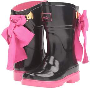 Joules Kids Bow Back Welly Rain Boot Girls Shoes