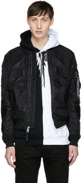Marcelo Burlon County of Milan Black Alpha Industries Edition MA-1 Bomber Jacket