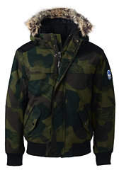 Lands' End Men's Camo Expedition Bomber Jacket-Black