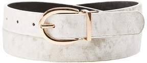 Charlotte Russe Plus Size Reversible Velvet & Faux Leather Belt