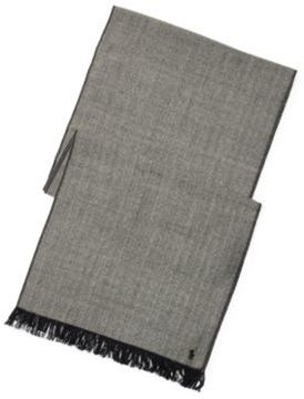 Ralph Lauren Herringbone Wool Scarf Black/Cream Herringbone One Size
