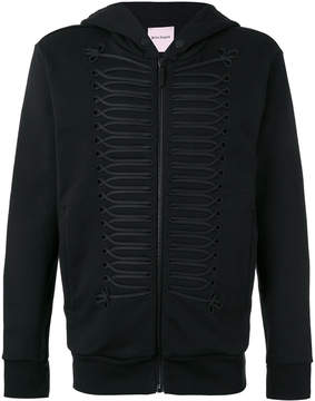 Palm Angels frogging-trimmed hooded jacket