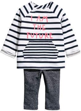 H&M Sweatshirt and Leggings - White