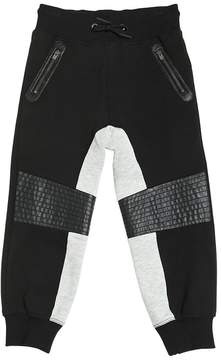 Armani Junior Baggy Fit Cotton Biker Sweatpants