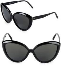 Linda Farrow 64MM Cat-Eye Sunglasses