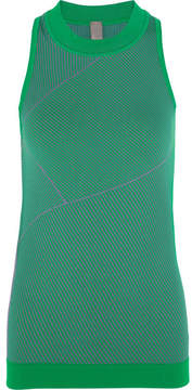 adidas by Stella McCartney Climalite Ribbed-knit Tank - Green