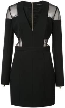 Balmain sheer detail fitted dress