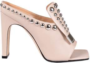 Sergio Rossi Sr Studded Mules