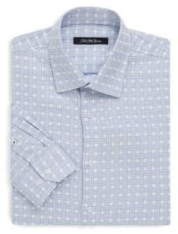 Saks Fifth Avenue BLACK Long Sleeve Cotton Check Shirt