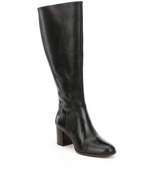 Antonio Melani Dredas Wide Calf Leather Dress Boots