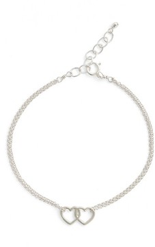 Dogeared Women's Friendship Linked Open Heart Charm Chain Bracelet