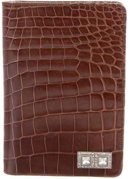 Judith Leiber Crocodile Passport Cover