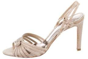 Giorgio Armani Snakeskin Slingback Sandals