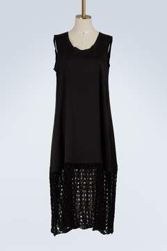 Jil Sander Bi-material dress