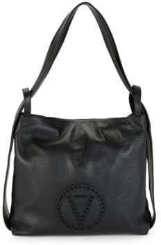 Mario Valentino Leopold Leather Tote Bag