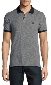 Selected Heathered Cotton Polo