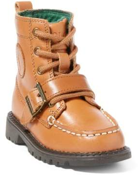 Ralph Lauren Leather Ranger Hi Ii Boot Tan Burnished Leather 4.5