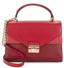 MICHAEL MICHAEL KORS Flap Leather Satchel