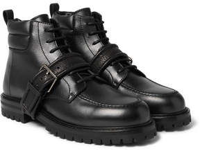 Valentino Buckled Leather Boots