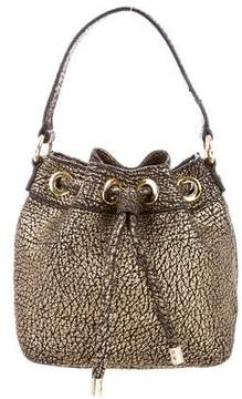 Milly Metallic Leather Bucket Bag