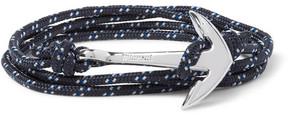Miansai Anchor Cord Silver-Plated Wrap Bracelet