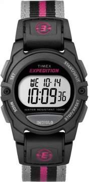 Timex Expedition Digital CAT Black/Pink/Gray Watch, Nylon Strap