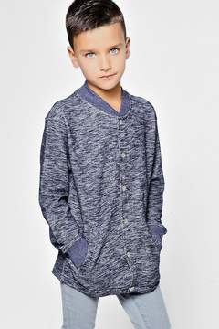 boohoo Boys Space Dye Bomber With Poppers