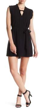 Collective Concepts V-Neck Pleated Shift Dress
