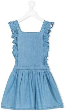 Emile et Ida chambray frill trim dress
