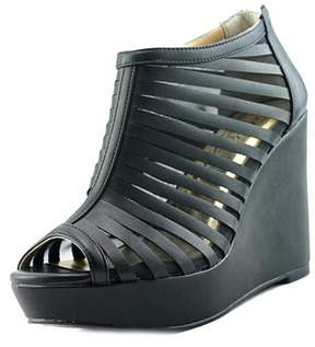 Thalia Sodi Millo W Open Toe Leather Wedge Heel.