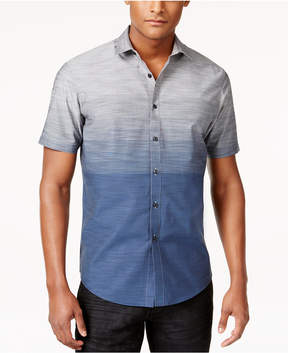 INC International Concepts I.n.c. Men's Zeddie Ombre Stripe Short-Sleeve Shirt, Created for Macy's