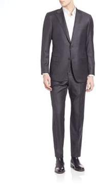 Hickey Freeman Solid Wool Suit Set