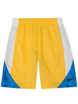 Nike Little Boys Silky Yellow & Blue Athletic Shorts with Pockets 6