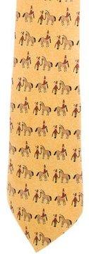 Hermes Silk Centaur Print Tie