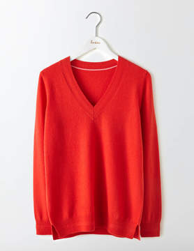 Boden Cashmere Relaxed V-Neck Sweater