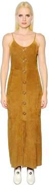 Drome Button Up Suede Dress