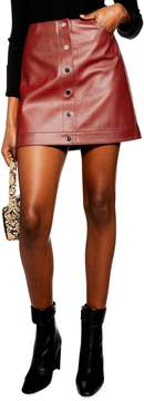 Topshop Dixie Faux Leather Miniskirt