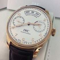 IWC Portugieser Silver Dial 18K Rose Gold Automatic Men's Watch