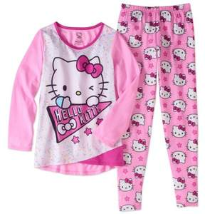 Hello Kitty Big Girls' Legging Sleepwear Set